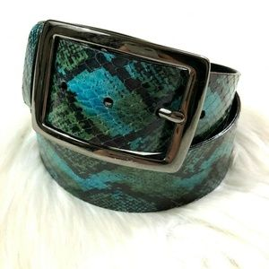 WCM New York Neiman Marcus Snakeskin Belt Blue